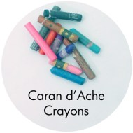 Drawing supplies: Caran d'Ache crayons