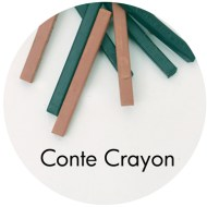 Drawing supplies: Conte Crayon
