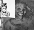 Charcoal Self-Portrait Drawing, by a student at Millis High School
