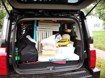 Car Loaded and Ready to Go to my first outdoor craft show