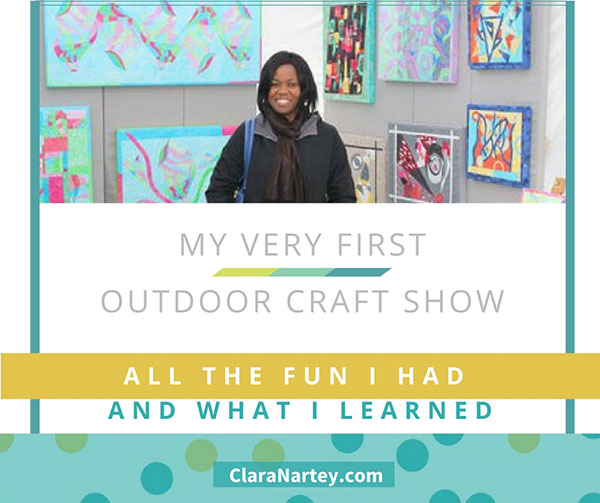 my first outdoor craft show