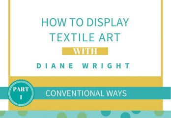 w display textile art