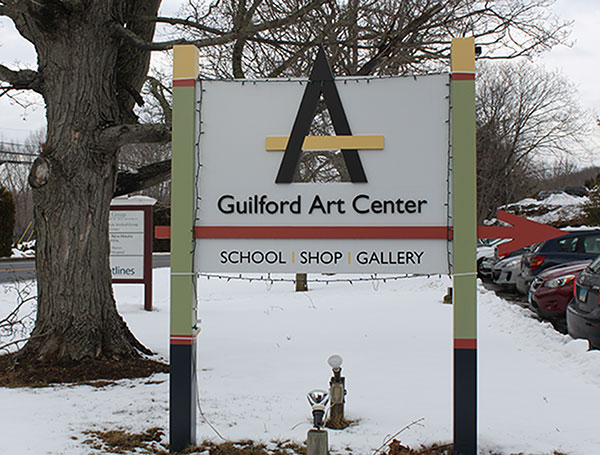 Guilford Art Center with Snow