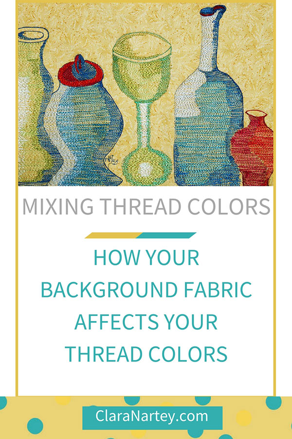 How your background fabric works when you're mixing thread colors