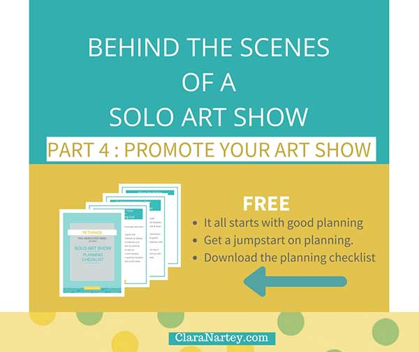 Simple Ways to Promote your Art Show