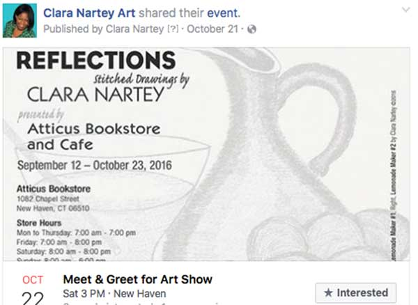 promote your art show on Facebook