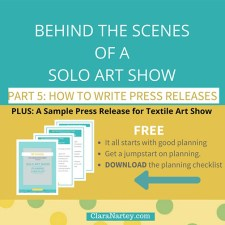 Behind the Scenes of A Solo Show: Press Releases