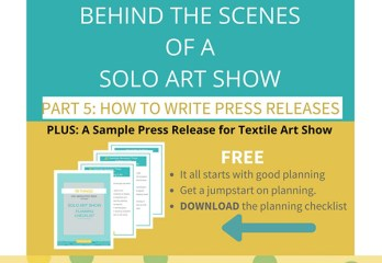 Art Show Press Release | Textile Art Show | Fiber Art Exhibition