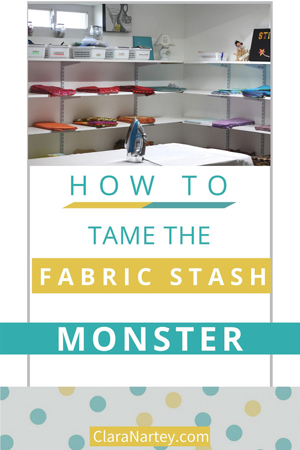 Tame Your Fabric Stash | Organize Your Fabrics