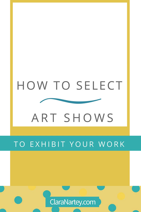 how to select art shows