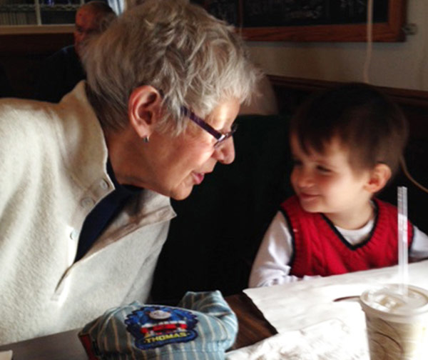 Fabric Painting Expert - Mickey Lawler and her Grandson