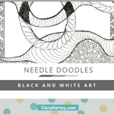 Needle Doodles – Black and White Art