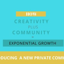 A New Facebook Group – How Creativity Plus Community Equals Exponential Growth