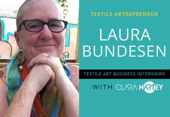 embroidery collage with Laura Bundesen