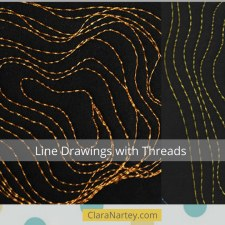 WIP (Part 3) – Under The Microscope #2: Line Drawings with Thread