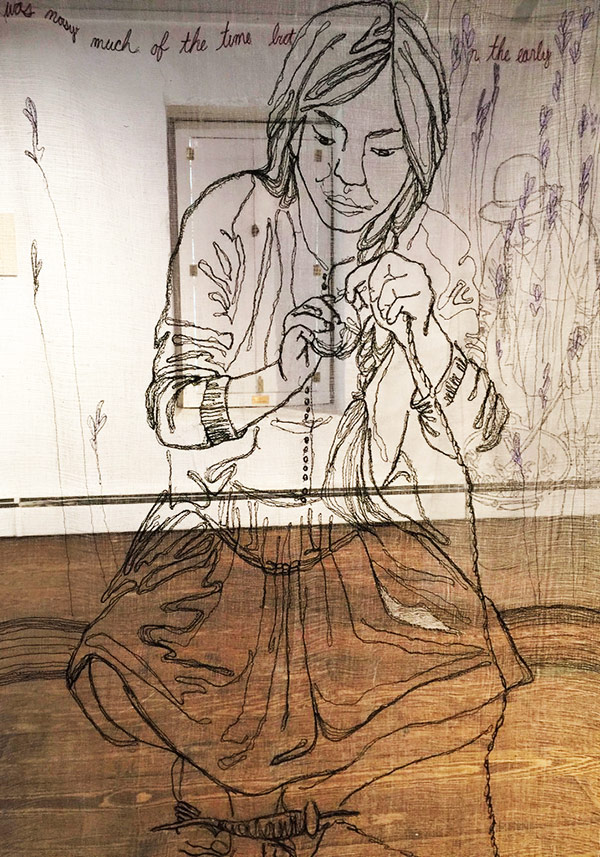 Thread art at Hunterdon Art Museum | Drawing with Thread | Thread Artists | Kelsey Wiskirchen