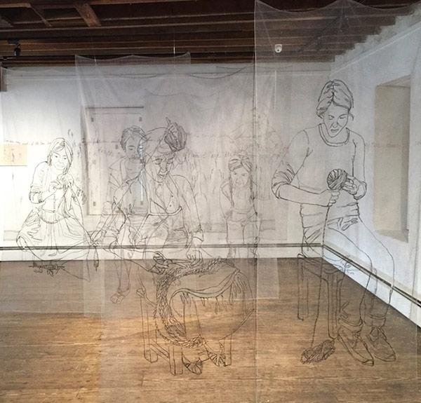 Thread art at Hunterdon Art Museum   Drawing with Thread   Thread Artists   Kelsey Wiskirchen