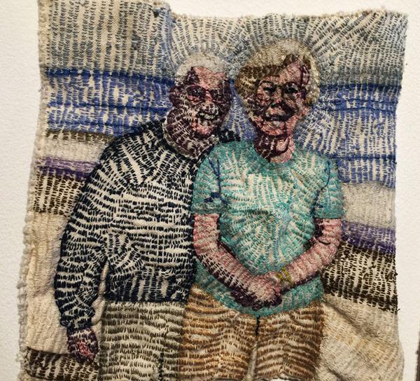 Thread art at Hunterdon Art Museum   Drawing with Thread   Thread Artists  Patricia Dalhman