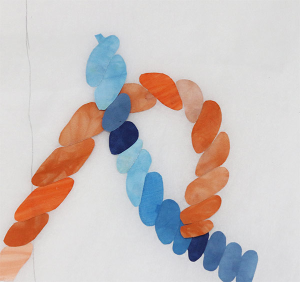 Mount fabric art on canvas |Lovecicles | fiber art | fabric collage | fibre art | textile art | art textiles | art quilt on canvas| mount textile art on canvas