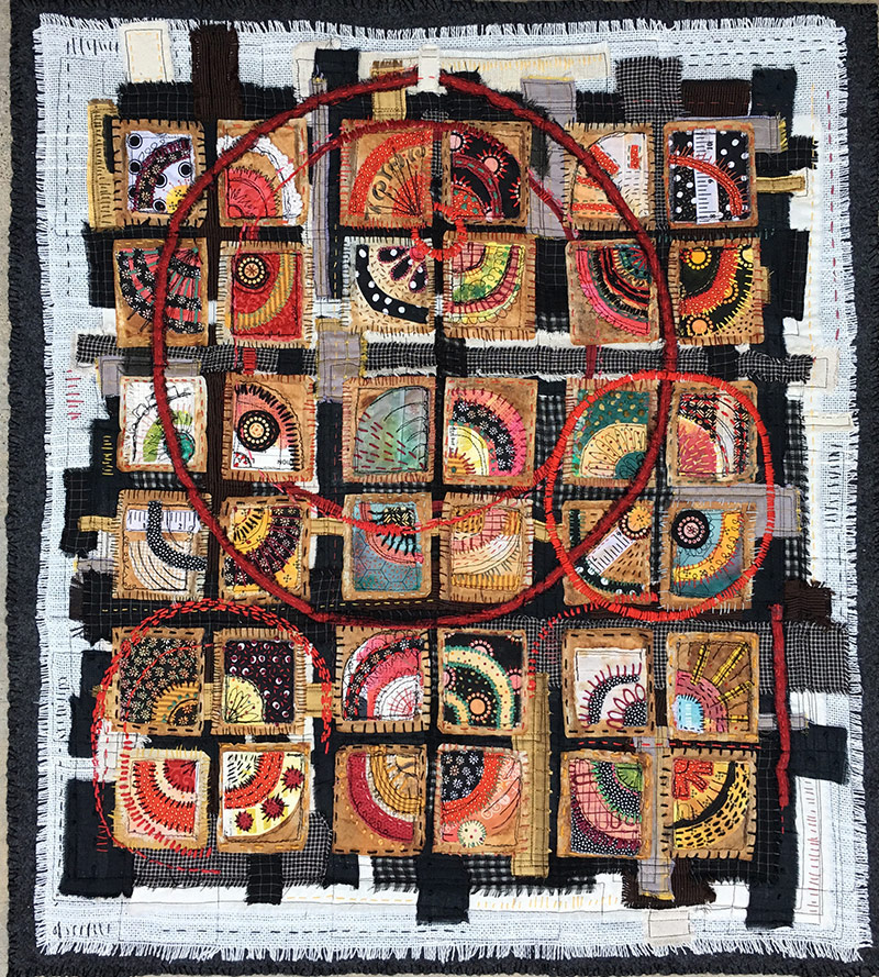 Textile Art Trends| Libby Williamson's Teabag Quilts
