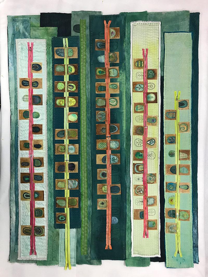 2019 Textile Art Trends| Libby Williamson's Teabag Art Quilts