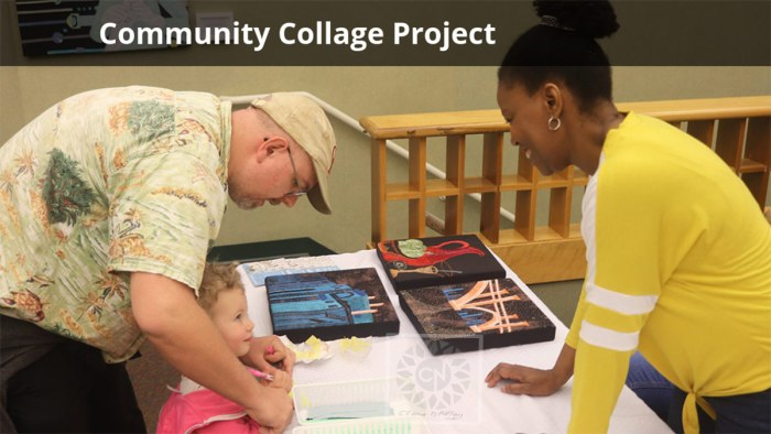Community collage project at Milford Public Library, Connecticut