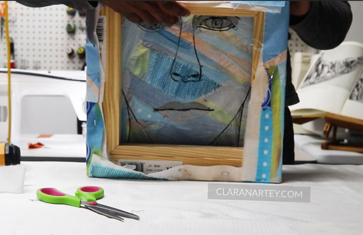 gallery wrapped fiber art on canvas   Gallery wrapped textile art on frames