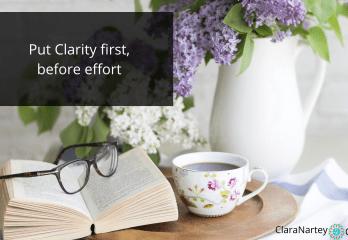 clarity before effort   online course