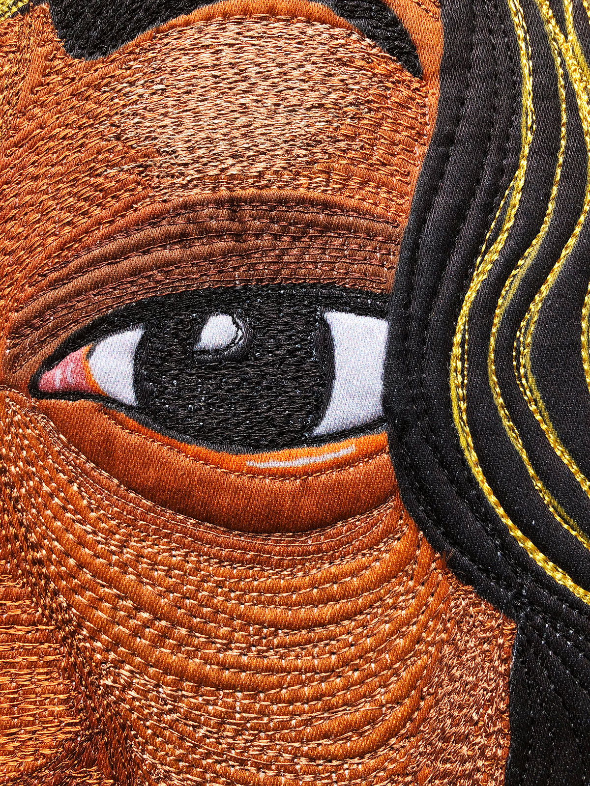 Charleena Lyles   Fiber Art   Thread Painting   Textile Art   Art Quilt   #CharleenaLyles
