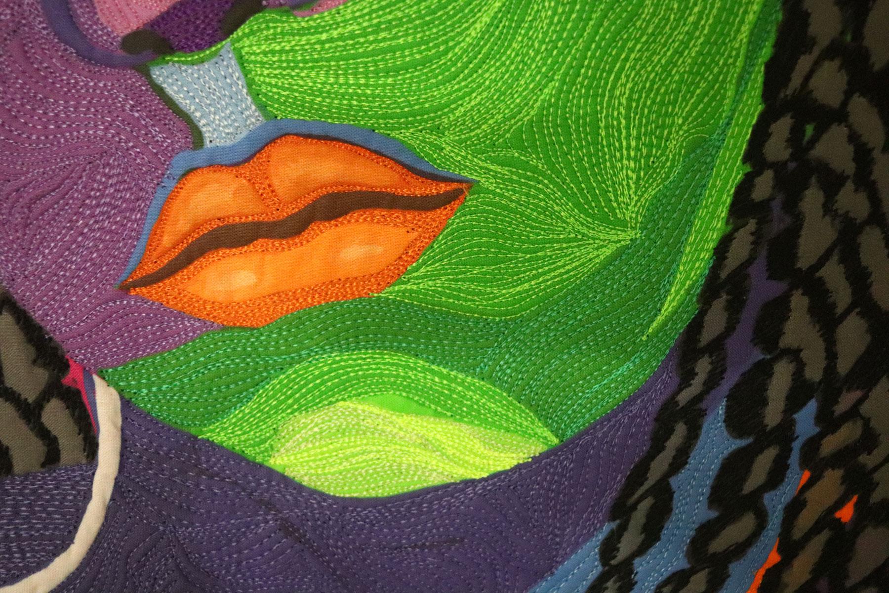 Fiber Artist | Clara Nartey | Fiber Art | Art Quilt | Textile Art | Portrait Quilt