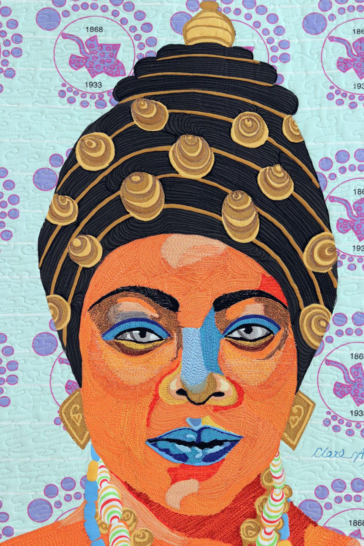 Sissieretta Jones | Fiber art| Textile Art | Thread painting| Black Patti |  Matilda Jones