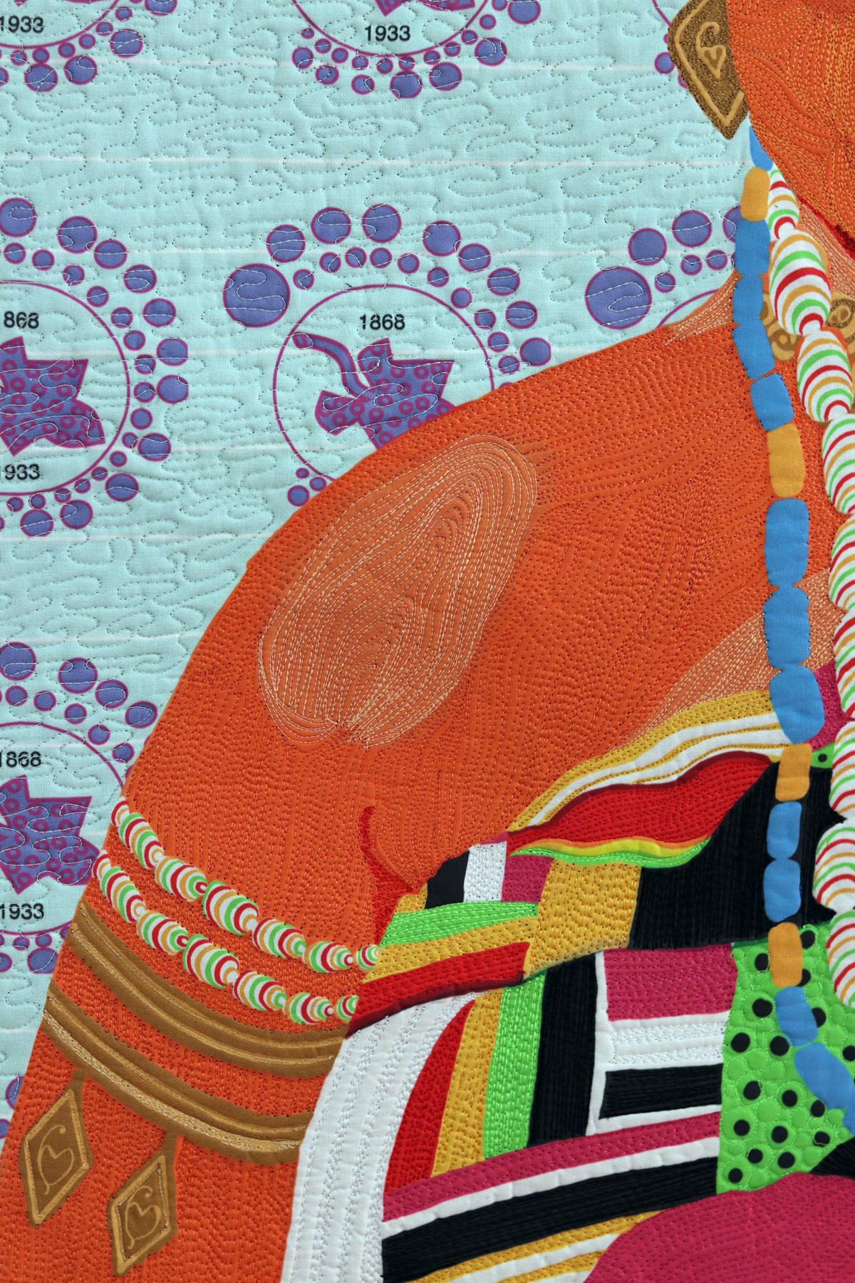 Fiber art| Textile Art | Thread painting| Black Patti| Matilda Jones