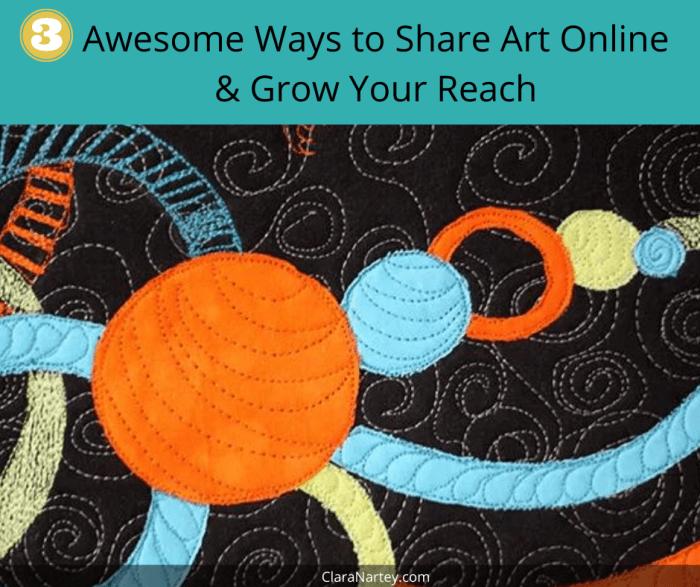 Fiber Art Business Tips | Textile Art | Thread Sketching | Share your art online