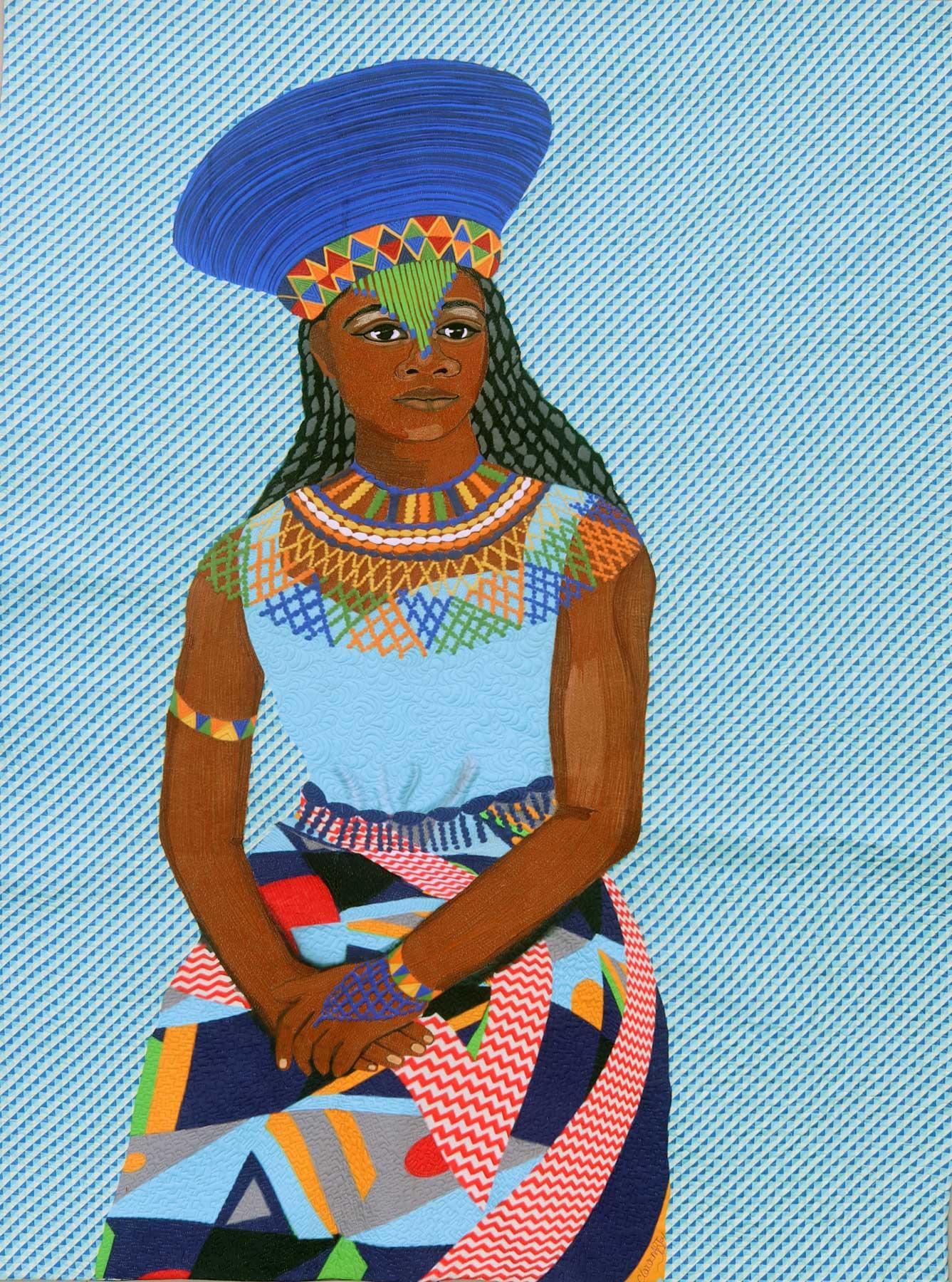 Amandla - textile ar t| fiber art| thread art| Clara Nartey
