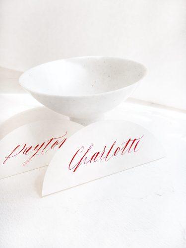 Kalligrafie Namenskärtchen