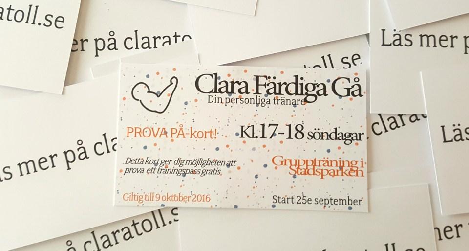 Clara Färdiga Gå