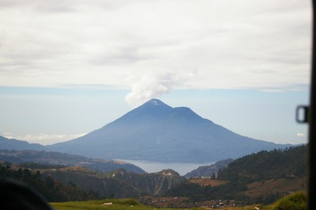 Volcan Fuego, on Lago Atitlan