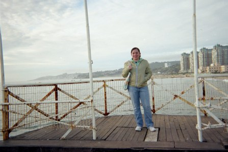 at the pier in Viña
