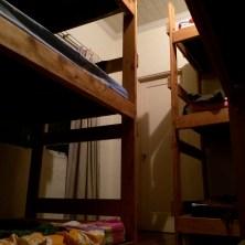 hostel moment: three-decker bunk beds