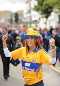 Sharon Lee from Tubber shows her Clare colours