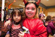 Alison and Jennifer, Ennis National School Junior Infants ,when they visited The Clare Champion Offices in Barrack Street during the annual Ennis National School Hallowe'en Hobble ( toddle waddle) in Ennis.pic Arthur Ellis.