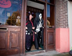 Lurking in the Shadows: The Clare Champion's Eileen and Moira await the visit of the Senior Infants