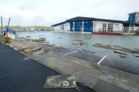 The flooded carpark at Lahinch promenade. Photograph by John Kelly.