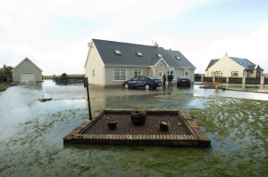 The O'Connor family home at Seafield, Quilty was flooded when the sea breached through