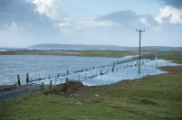 A view of some of the flooding and storm damage at Seafield, Quilty. Photograph by John Kelly.