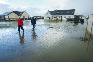 The O'Connor family were evacuated from their home after flooding in the early hours of Friday morning. Photograph by John Kelly.