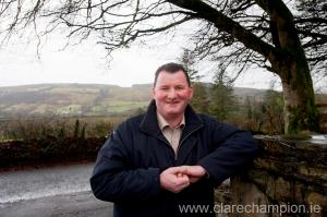 Councillor Pat Hayes concerned over the theft of village signage in east Clare.