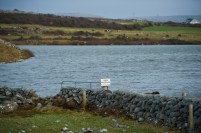 A flooded area at The Flaggy Shore caused by the latest high seas and gales. Photograph by John Kelly.