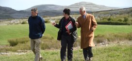 Prince Charles takes a stroll through the famous Burren landscape this afternoon, with Dr Brendan Dunford, Burrenbeo project manager and Dr Sharon Parr, also of Burrenbeo. Photograph by John Kelly.