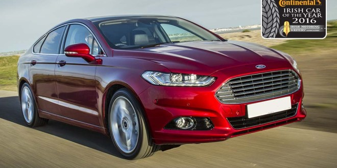The Ford Mondeo is the Continental Irish Car of the Year 2016